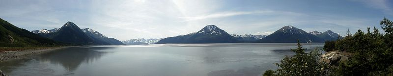 "Another panorama - this one of Turnagain Arm from just south of Girdwood.  Again, viewing it in ""original"" size gives the best effect."