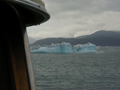 Dodging icebergs in front of Growler Island, northeast Prince William Sound.