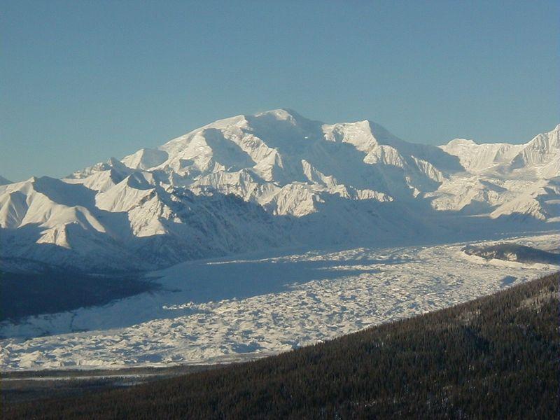 Mt. Blackburn from Sourdough Ridge, just east of McCarthy.