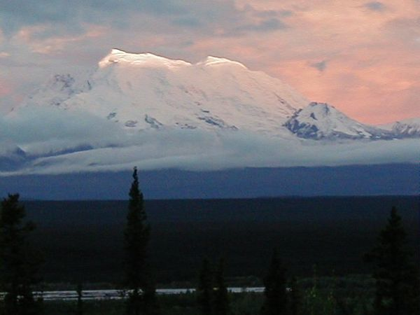 Early fall sunset on Mt. Drum, as viewed from the north side.