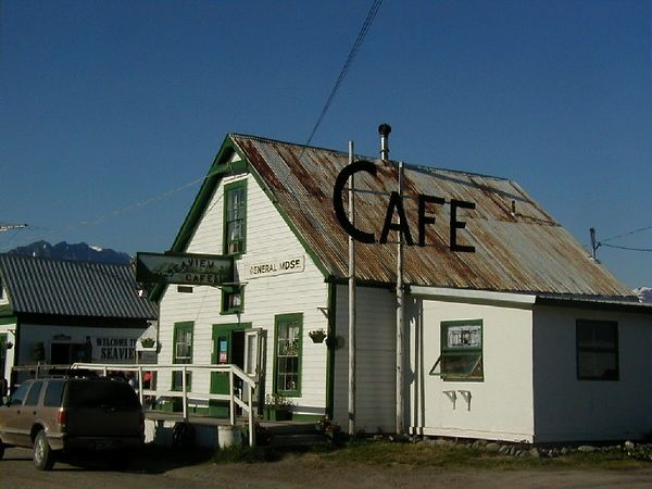 Hope.  In its heyday of gold mining, a bustling little town on Turnagain Arm.