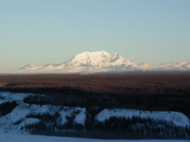 Mt. Drum presenting its southern face as seen from just above Lower Tonsina.