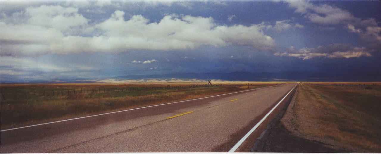 Looking across the broad valley toward Wisdom, Montana.