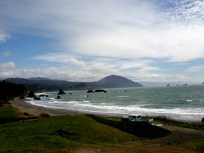 The beach at Port Orford, Oregon, where I stopped for a bite of lunch.