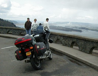 At Crown Point, east of Portland, Oregon, overlooking the Columbia River.  Portland out of sight in the distance.