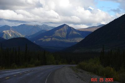 In the Yukon, south of Beaver Creek, looking southeast.