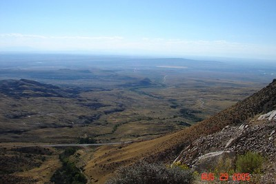 Another view of the panorama from the west side of the Big Horns, this one looking directly toward Cody, WY.