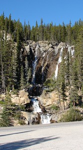 Small roadside waterfall in Banff National Park.  Have another photo somewhere of this falls I took in January, 2000.