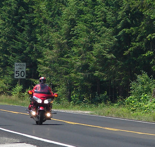 Sunday, July 23: Friend & riding partner Mike letting me get a photo of him enjoying the ride.