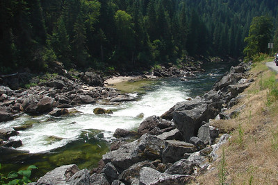 Sunday, July 23: One of hundreds of short rapids on the Lochsa River, most within sight of the highway.