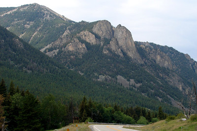 Monday, July 24: US-212 quickly begins to climb into the mountains after leaving Red Lodge, Montana.
