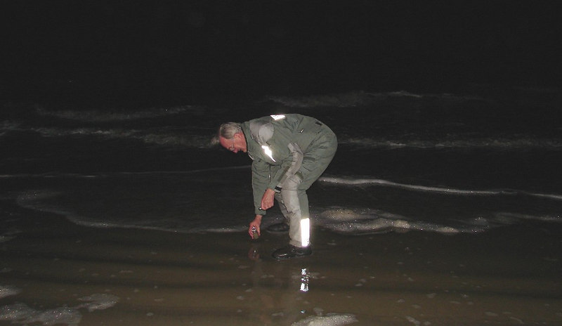 Wednesday - 3/8:  At a little after 11:00 PM EST, I was dipping a sand and water sample from the Atlantic Ocean on the beach at Tybee Island, GA, about 25 miles east of Savannah.  It had taken almost exactly 45 hours total time for the trip across the U. S.