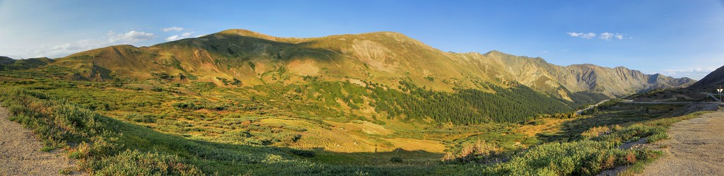 Just over Loveland Pass, on the south side, beginning to descend.