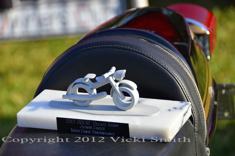 MotoCorse made the trophies for the Ducati bike show.  Pretty great huh?