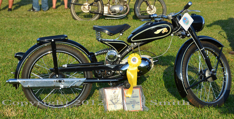 Yea! Best European and Most Unique bike in the show awards. Great way to end a great day! See you next year.