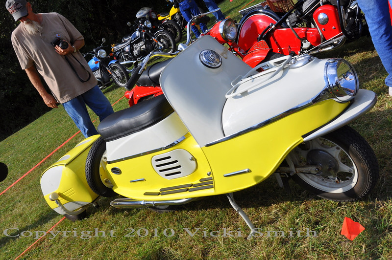 This one was a crowd favorite - Cezeta Scooter with trailer