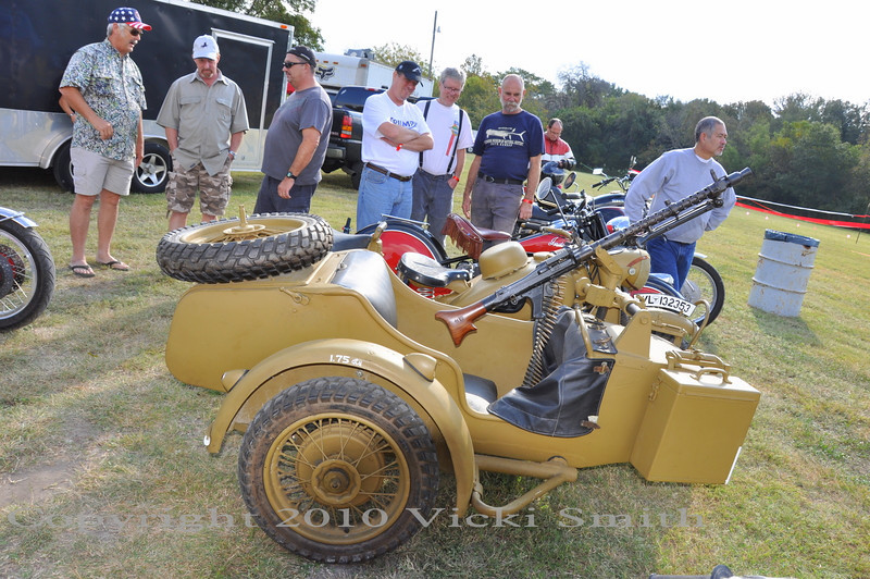 Guns are of course, a big theme here in Texas so this Ural drew a crowd all day