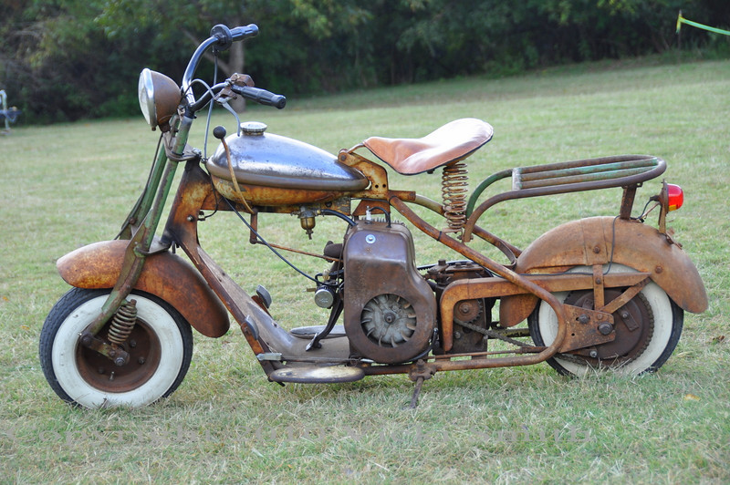 This Cushman charmed me with it's patina.