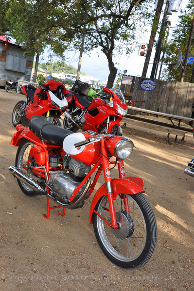 Lots of unexpected sightings due to a local Austin collector who has bought and sold large quanity's of super interesting/rare Euro bikes. Many turned up here