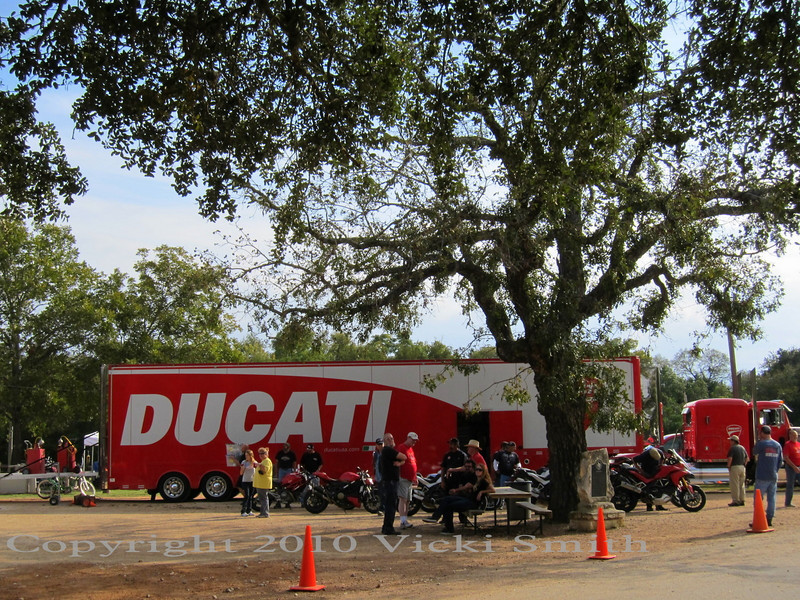 Ducati supports the event and even sends the big demo ride truck