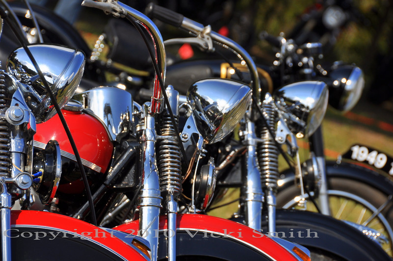 Even Harleys but they were in the minority