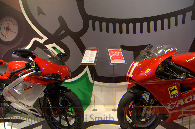This is high on the what I would like to bring hone from Milan list - a 500cc single inspired by the Cagiva GP bike, it's a beauty with real hopes of coming to America