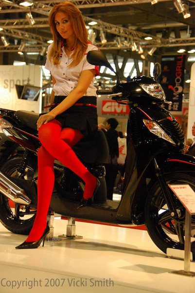 Motorcycle Fashion Week relies on models. I figured you might want to see those as well....