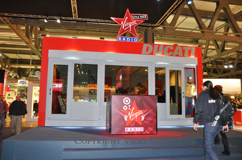 New this year at Ducati was the Virgin Radio booth