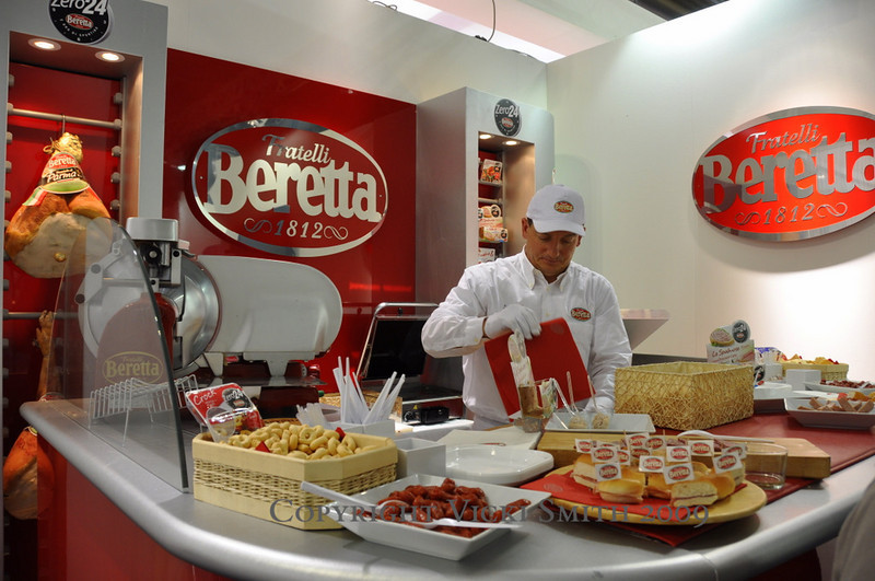 This dedicated Beretta ham stand is inside the MV VIP area