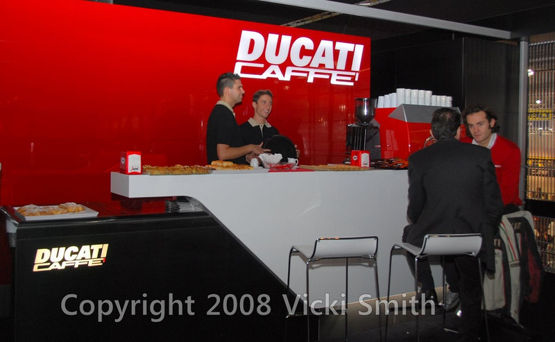 The Ducati Cafe in the VIP offices