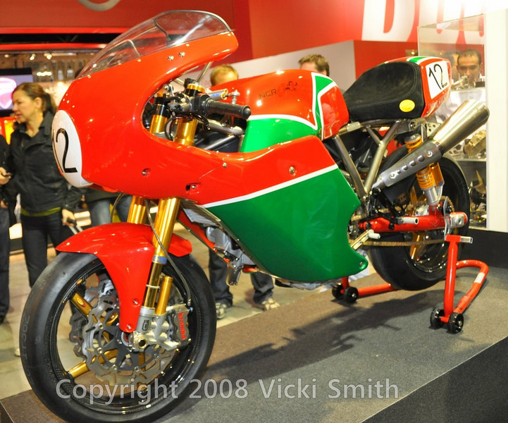 100,000 euros and this Hailwood replica goes home with you.  NCR had Pauline Hailwood at the show to introduce it