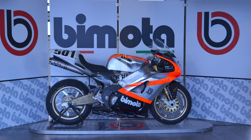 Bimota had a huge display and took it's customers on a track ride every day.