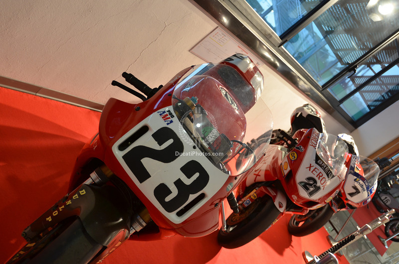 The Ducati factory display was upstairs. I have no idea how they got them all up there