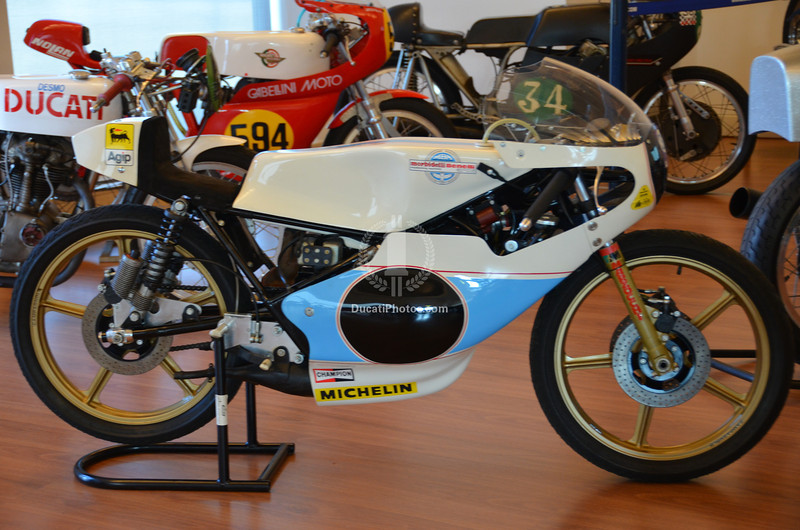 One of the few non-Ducati's in the Sassi display was this beautiful Morbidelli racer