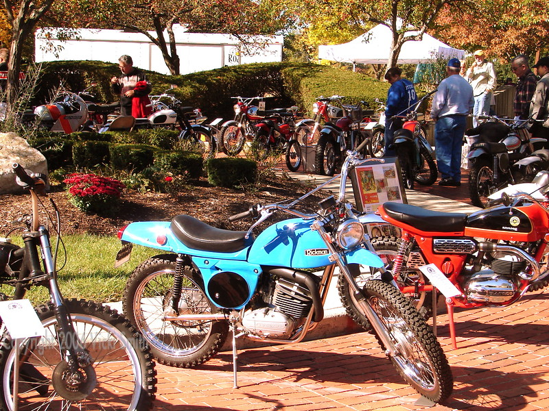 The winding brick driveway of the AMA museum was a treasure trove of motorcycles (and scooters) of virtually every type.