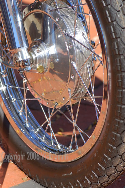 Front wheel of either a Yamaha or a Honda, I can't remember but it was beautiful