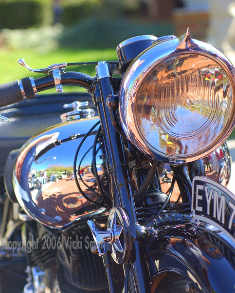 Brough Superior again.  This bike has more fancy details- check out that headlight!