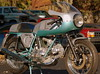 """This bike was recently restored for it's owner by Rich Lambrechts. Cook Neilson said when he saw it """" Tell me why I shouldn't belive this isn't a brand new bike?"""""""