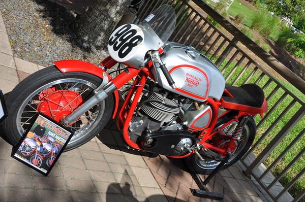 British bikes like this Norton were plentiful.