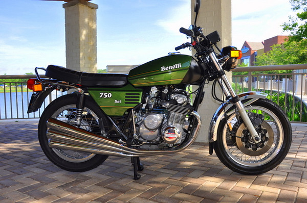 Iconic Italian bikes were not limited to the MV 750S and Ducati 750 Sport.  This flawless Benelli 750 Sei looked like it just came out of the crate