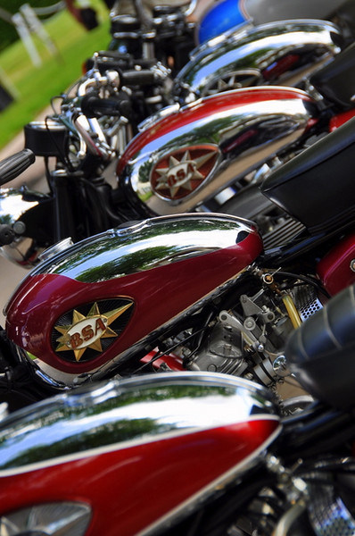 Lots of BSA's as well.  Goldstars, Rocket 3's, they were all here
