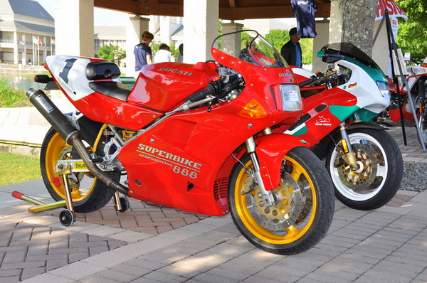 First thing I see?  Andrew Steadman's 888 and this DB2 Bimota.  It's going to be a good day