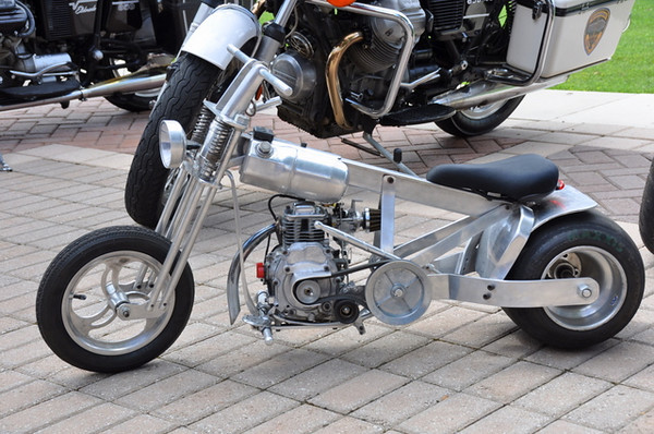 Or this tiny homebuilt mini bike