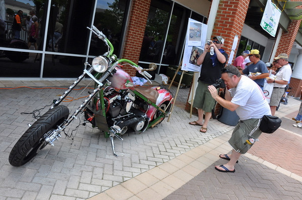 Like this Orange County Choppers Caddy Shack bike, famous for it's build on TV