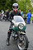 This is a ride 'em don't hide 'em style event and many of the bikes being ridden are increasingly being collected and pickled so it was nice to see John Stein riding his 750SS.  John is a well known journalist who just wrote a story for Haggerty's which interviewed collectors (including me) about what they would keep and what they would ride.  It's clear which side of the argument he sides with. Good for you John (and lucky for us)