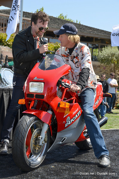 Paul d'Orleans of the Vintagent talks to Peter Richardson about his ultra rare Ducati before he receives his best in class award