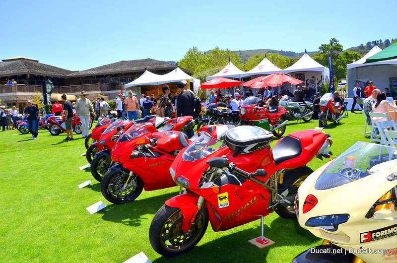 """Ducati Island"" at the Quail.  Expresso anyone?"