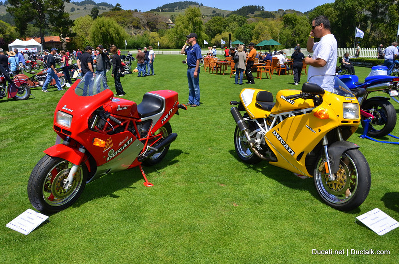 Ducati Rare Air (cooled) The 1986 Ducati F1750 Montjuich was one of 200 produced total but only 20came to the US.  The yellow 1992 900SS Superlight in the right was one of only 300 sent to the US and considered the most desirable of the eternally beloved 900SS series