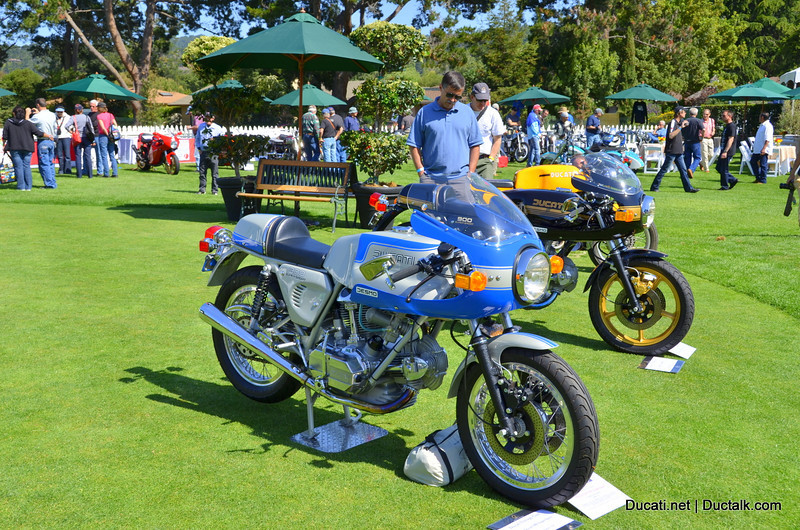 The Ducati Vintage Club had a nice display of special (and well preserved) Ducati's.  The Quail generously invites clubs to participate and offers them prime display space.