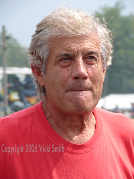 Giacomo Agostini.  The most successful rider in history, 15 world titles (and not one serious spill in all that time), even Valentino Rossi has yet to break his record.